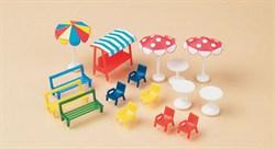 42569 Скамейки, стулья, столы, зонтики от солнца (H0 / TT) - фото 5518