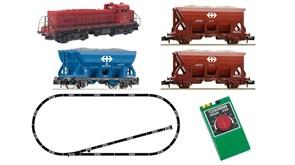 931701 Аналоговый стартовый набор 1:160 «Грузовой поезд с тепловозом Em 4/4», N, IV-V, SBB