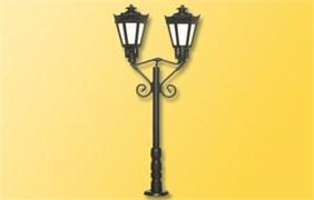 6077 Парковый фонарь черный тройной (h-65мм)