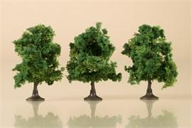 70936 Деревья лиственные (3) темно-зеленые 7 см