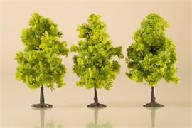 70937 Деревья лиственные (3) светло-зеленые 11 см