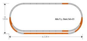 61152 Набор развития пути C1 на призме, H0, geoLine