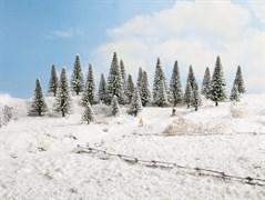 26828 Деревья Ели в снегу 5-14см (25шт)