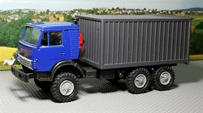RUSAM-KAMAZ-4310-05-750 Автомобиль КамАЗ 4310 контейнер (синий) (зеркала), 1:87, 1979, СССР