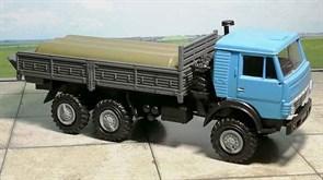 RUSAM-KAMAZ-4310-14-650 Автомобиль КамАЗ 4310 бортовой гружёный (голубой), 1:87, 1979, СССР