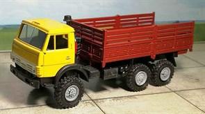 RUSAM-KAMAZ-4310-20-430 Грузовой автомобиль КамАЗ 4310 высокий борт (жёлто-бордовый), 1:87, 1979, СССР