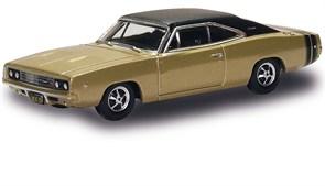 201129443 Dodge Charger 1968, золотисто-чёрный