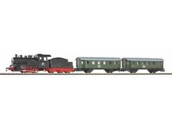 """57112 Стартовый набор PIKO «Пассажирский поезд с паровозом». Рельсы на """"призме"""""""