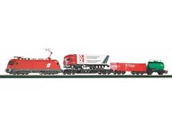 """57177 Стартовый набор «Грузовой состав с тремя вагонами» ÖBB. Рельсы на """"призме"""""""